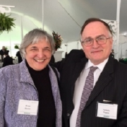 Rena Bizios inducted to National Academy of Medicine pictured here with Nicholas Peppas